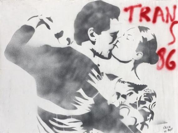 Couple de danseurs, 1986 - Blek le Rat