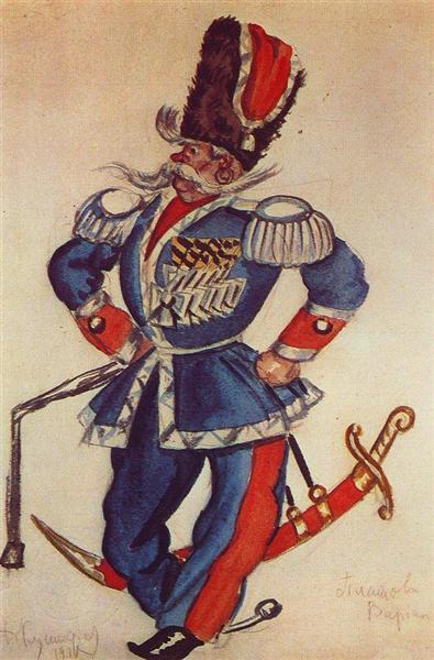 Ataman Platov, 1924 - Boris Kustodiev