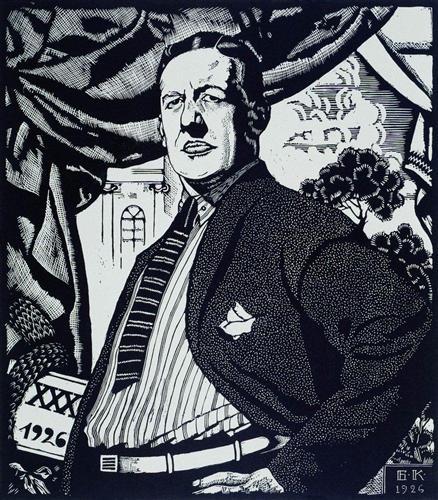 Portrait of soviet actor nikolay monakhov boris kustodiev