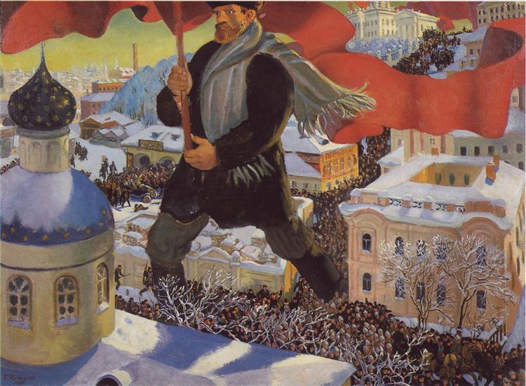 The Bolshevik, 1920 - Boris Kustodiev