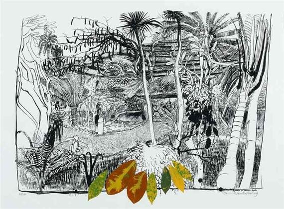 The Garden in Sanur - Bali, 1980 - Brett Whiteley