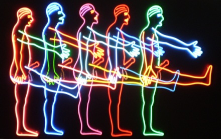 Five Marching Men, 1985 - Bruce Nauman