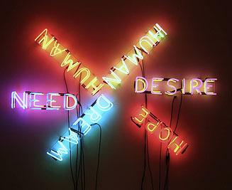 Human/Need/Desire, 1983 - Bruce Nauman