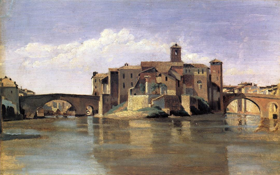 Island of san bartolommeo camille corot for Camille corot