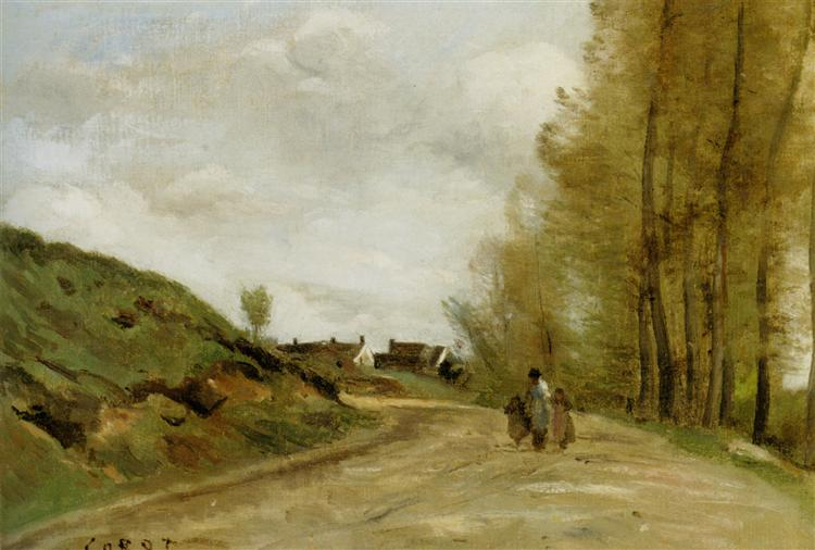 The Road In Gouvieux Camille Corot Encyclopedia Of Visual Arts