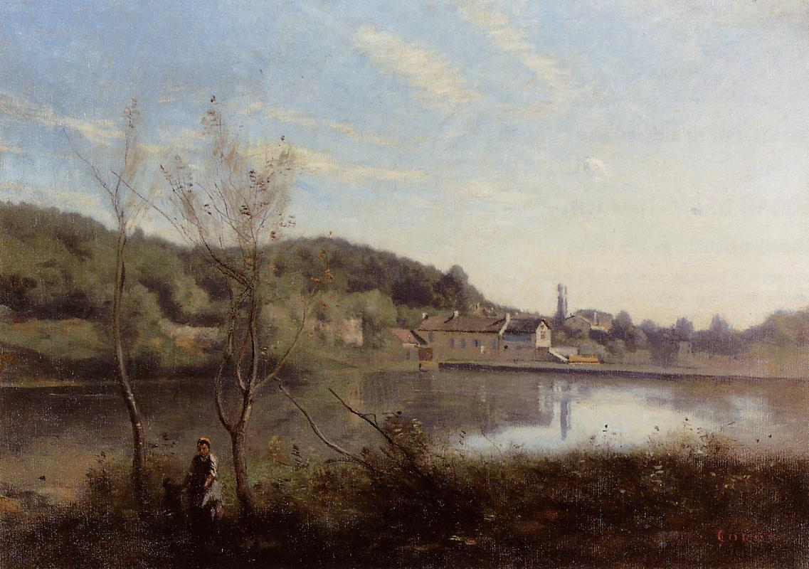 Ville d 39 avray the large pond and villas camille corot for Camille corot