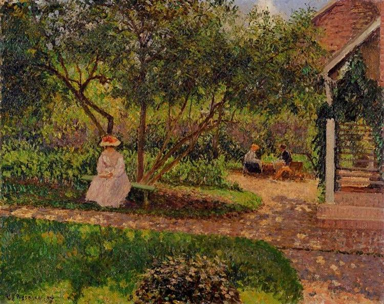 Corner of the garden in eragny 1897 camille pissarro for Jardin secret des hansen
