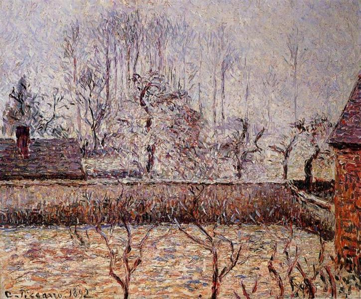 Landscape, Frost and Fog, Eragny, 1892 - Camille Pissarro