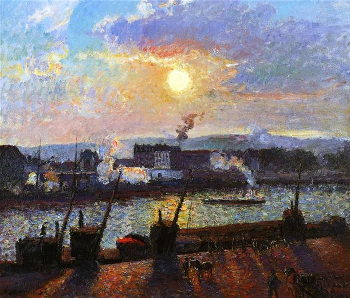 Sunset, Rouen, 1898 - Камиль Писсарро