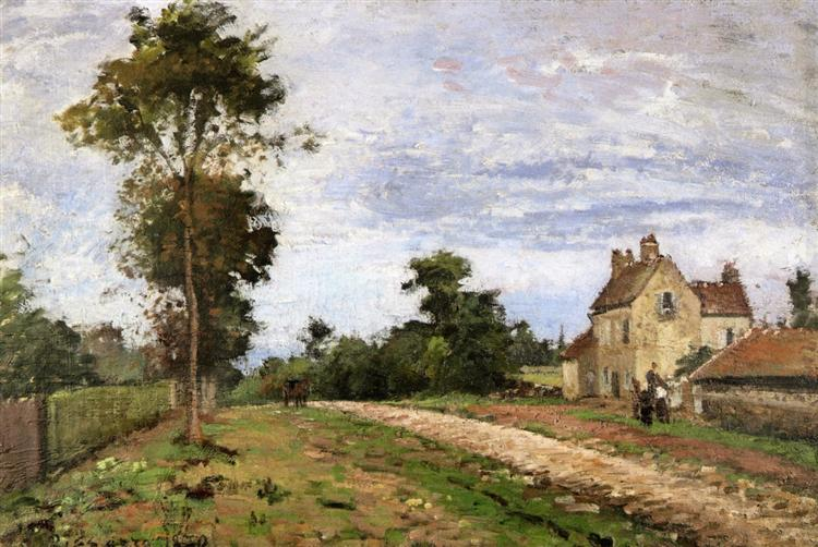 The House of Monsieur Musy, Louveciennes, 1870 - Camille Pissarro