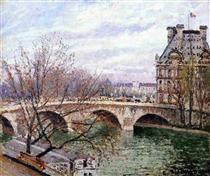 The Pont Royal and the Pavillon de Flore - Camille Pissarro