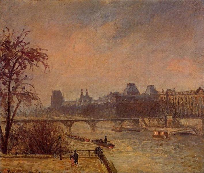 The Seine and the Louvre, Paris, 1903 - Camille Pissarro