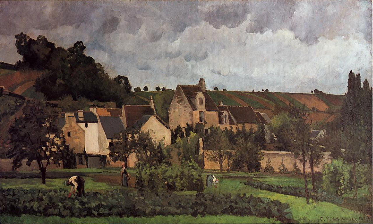 View of l'Hermitage at Pontoise, 1867