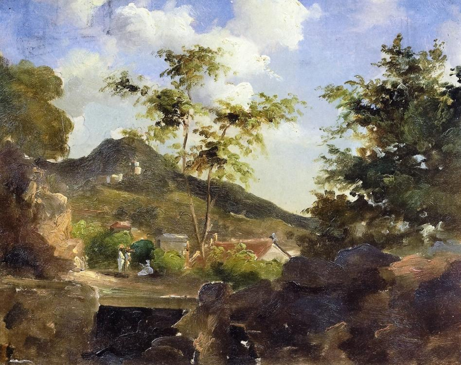 Village at the Foot of a Hill in Saint Thomas, Antilles, 1854-1855