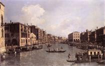 Canal Grande: guardando verso sud-est da Campo Santa Sophia al Ponte di Rialto - Canaletto