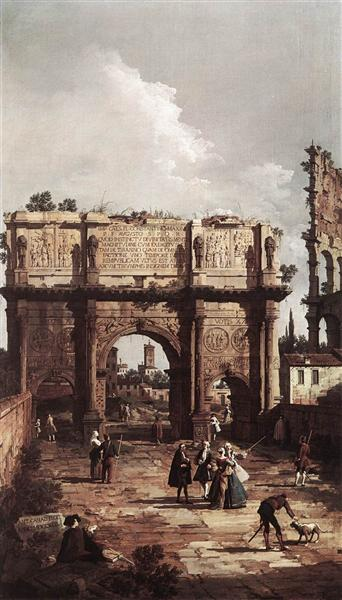 Rome: The Arch of Constantine, 1742 - Canaletto