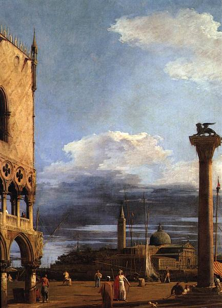 The Piazzetta towards San Giorgio Maggiore, c.1724 - Canaletto