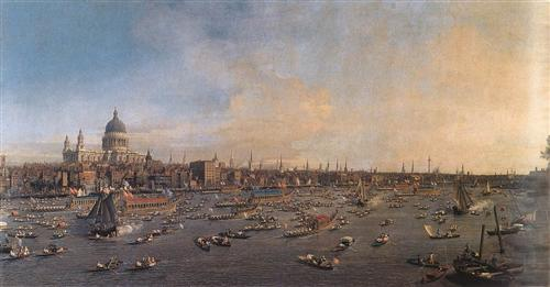 The River Thames with St. Paul's Cathedral on Lord Mayor's Day - Canaletto