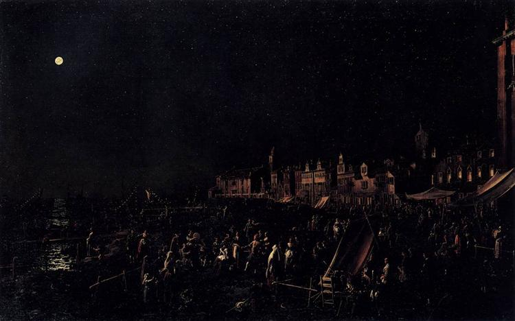 The vigil of Santa Marta - Canaletto