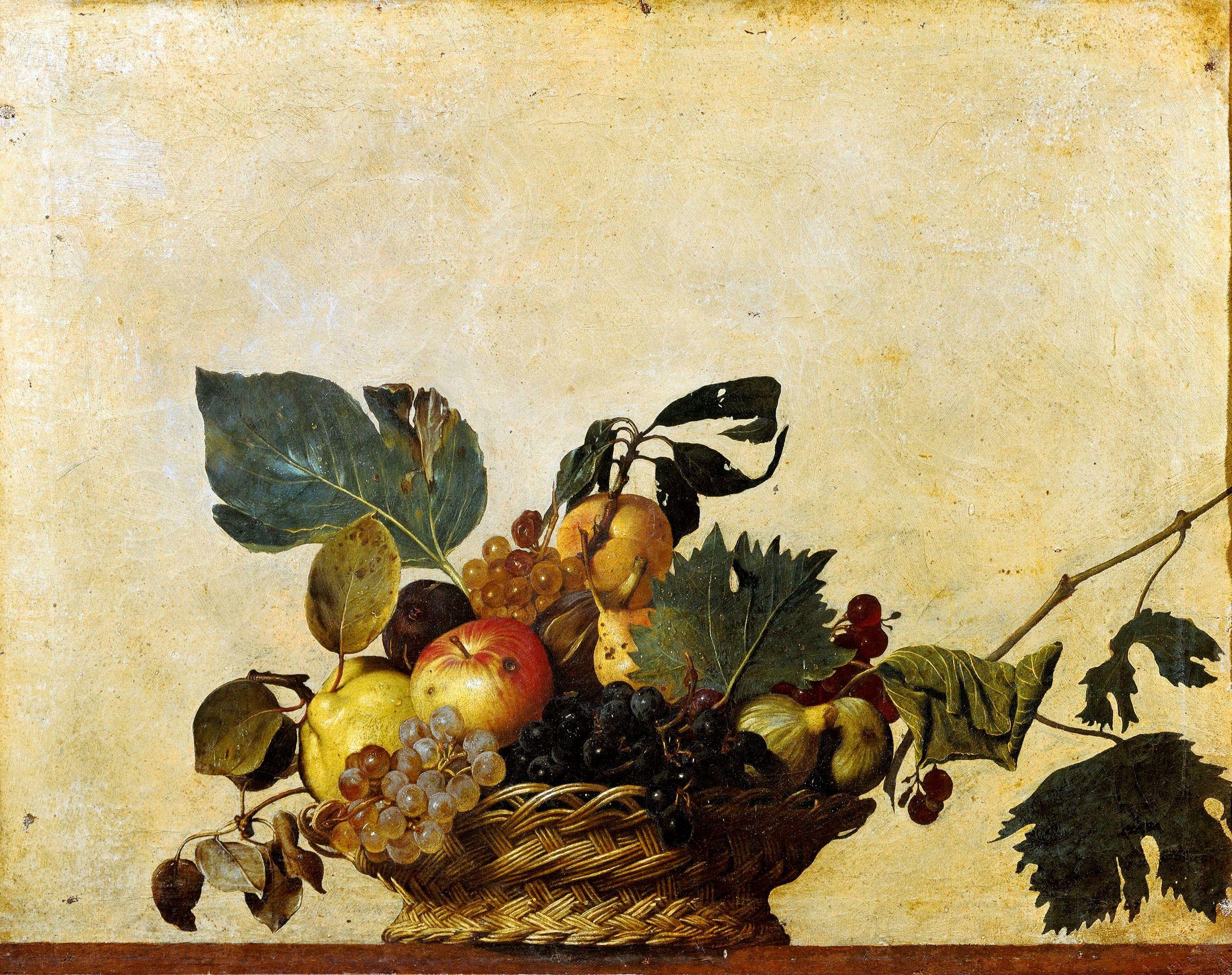 Basket of Fruit, c.1596 - Caravaggio - WikiArt.org