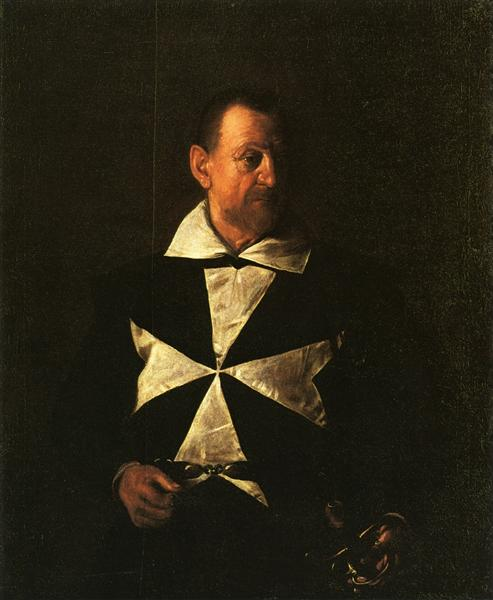 Retrato de fray Antonio Martelli, 1608 - Caravaggio