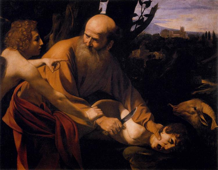 Sacrifice of Isaac, 1602 - Caravaggio