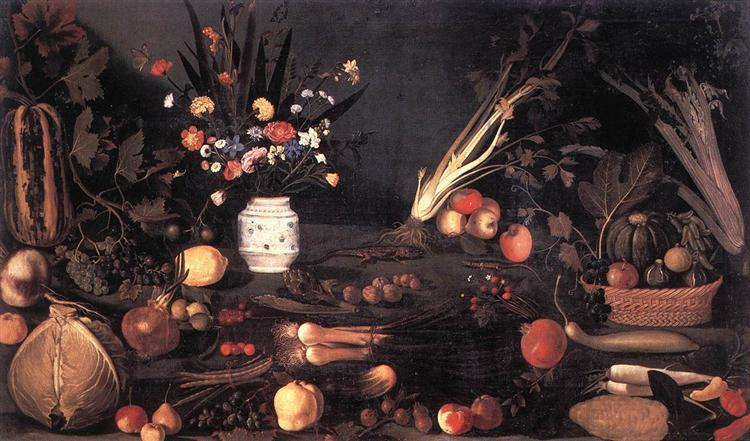 Still Life with Flowers and Fruit, 1601 - Michelangelo Merisi da Caravaggio