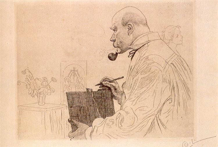 Self-portrait, 1912 - Carl Larsson