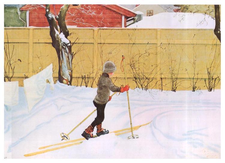 The Skier, c.1909 - Carl Larsson