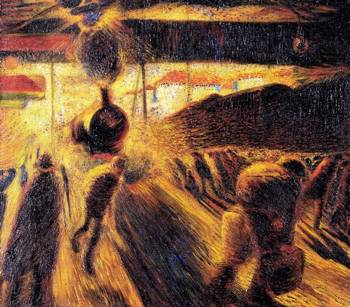 Stazione a Milano, 1909 - Carlo Carra