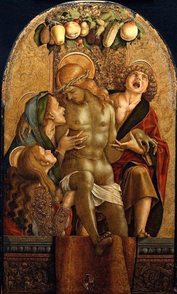 Lamentation Over the Dead Christ, 1485 - Carlo Crivelli