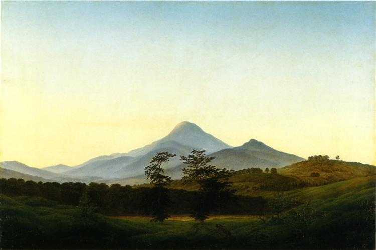 Bohemian Landscape, 1808 - Caspar David Friedrich