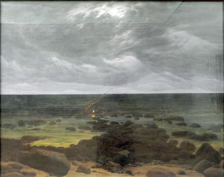 Coast Scene, c.1830 - Caspar David Friedrich