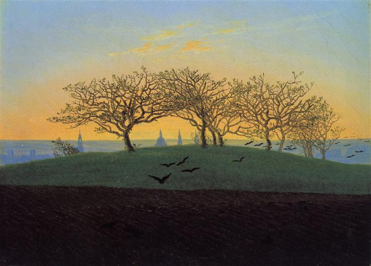 Hills and Ploughed Fields near Dresden, 1825 - Caspar David Friedrich