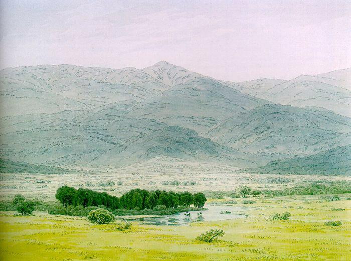 Landscape in the Riesengebirge, 1798 - Каспар Давид Фрідріх