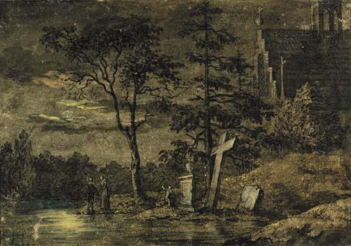 Two Men Contemplating the Moon, 1794 - 1798 - Caspar David Friedrich