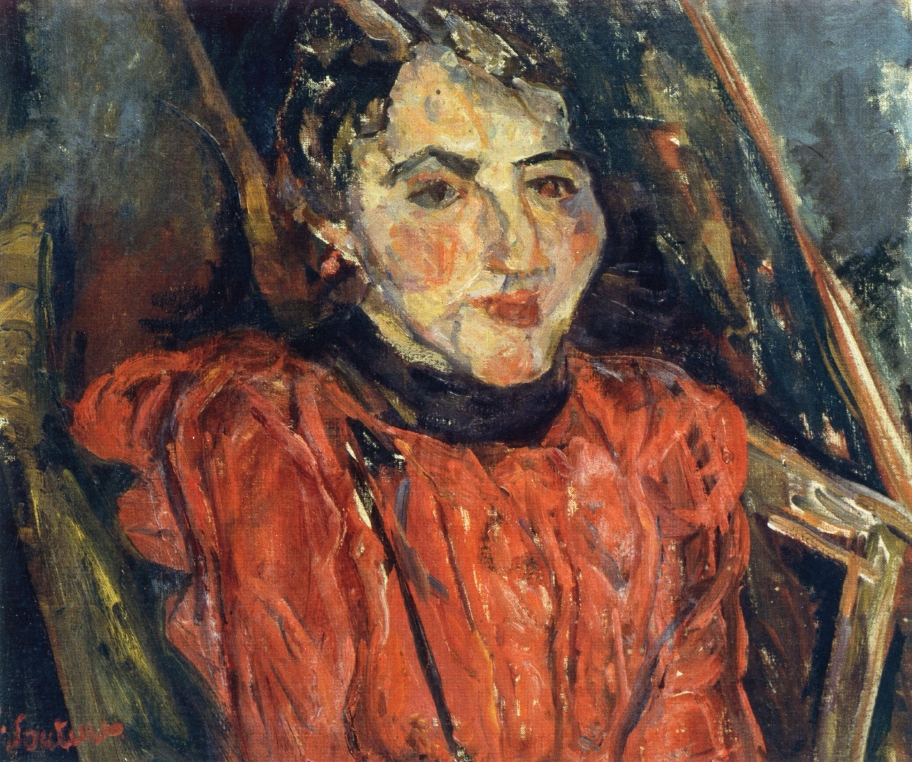 Chaim Soutine Portrait-of-madame-x-also-known-as-pink-portrait