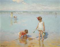 Children by the sea - Charles Atamian