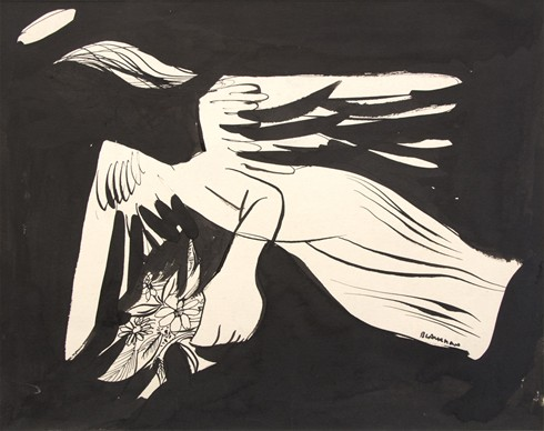 Angel with Flowers - Charles Blackman