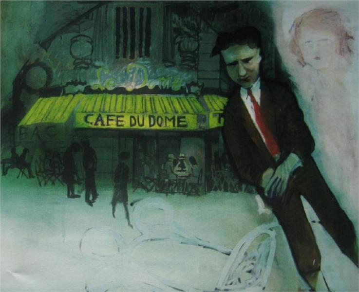 It is Cheaper to Ride on the Roofs of Taxis Than Inside Them (Scott Floating), 1973 - Charles Blackman