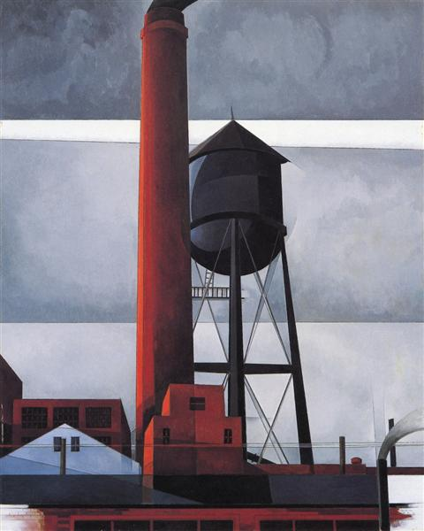 Chimney and Water Tower, 1931 - Charles Demuth