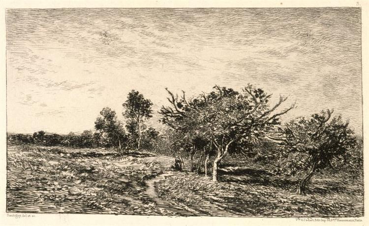 Apple Trees at Auvers, 1877 - Charles-Francois Daubigny