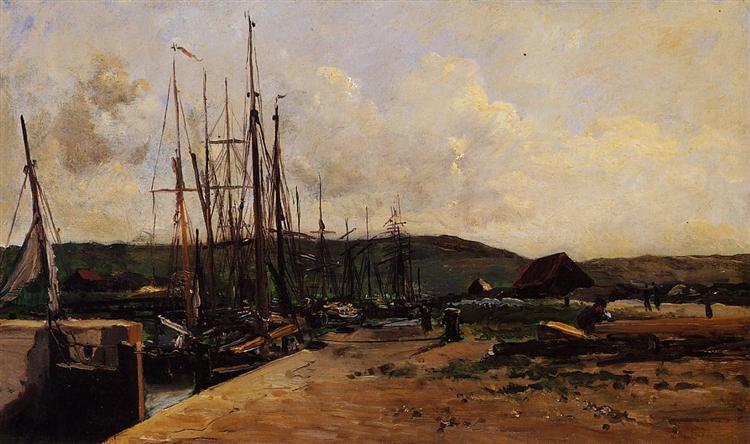 Fishing Port, 1874 - Charles-Francois Daubigny