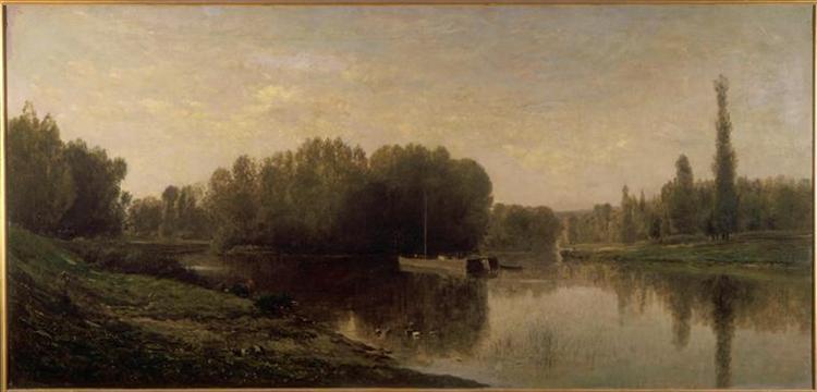 The banks of the Oise, 1859 - Charles-Francois Daubigny
