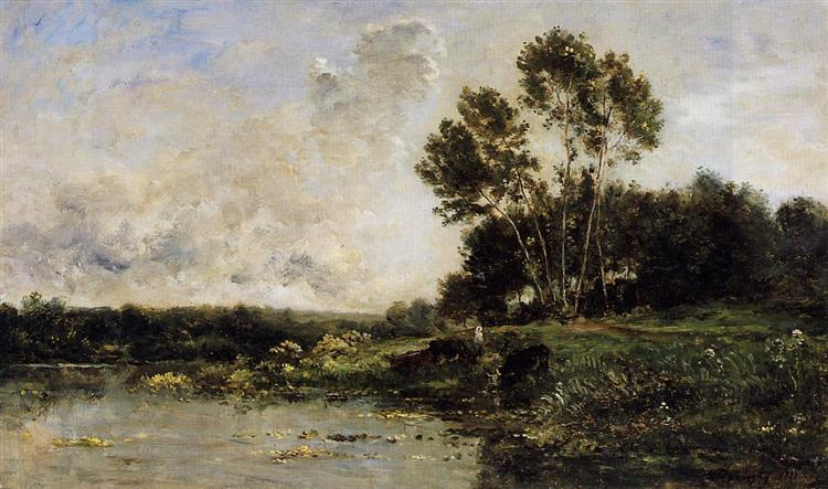The Banks of the Oise, 1877 - Charles-Francois Daubigny