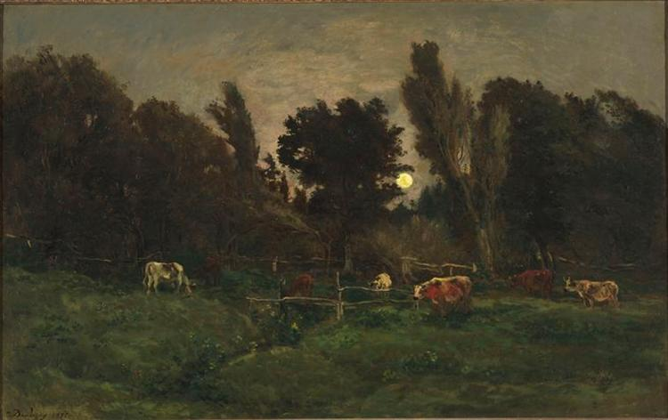 The meadow of graves in Villerville, c.1874 - Charles-Francois Daubigny