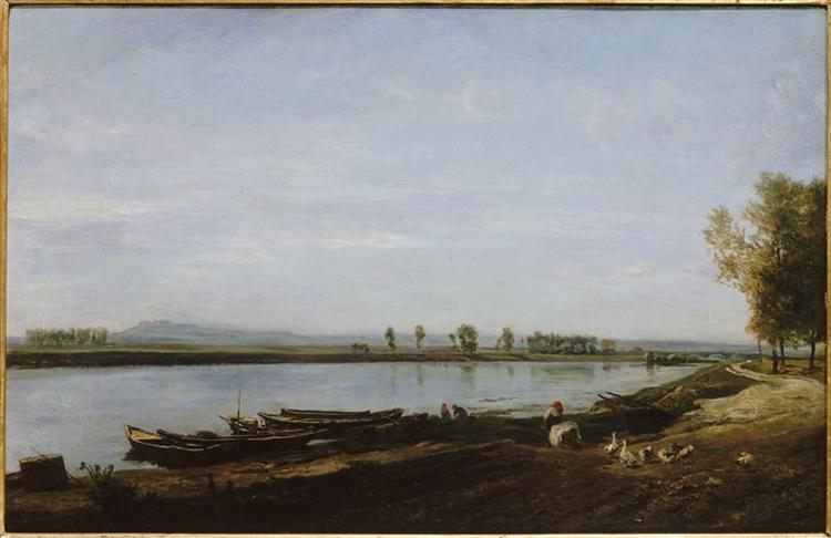 The Seine in Bezons, Val d'Oise, 1851 - Charles-Francois Daubigny