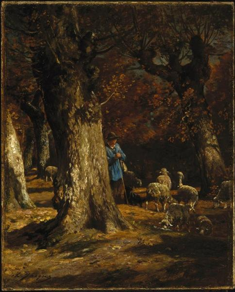 The Old Forest - Charles Jacque