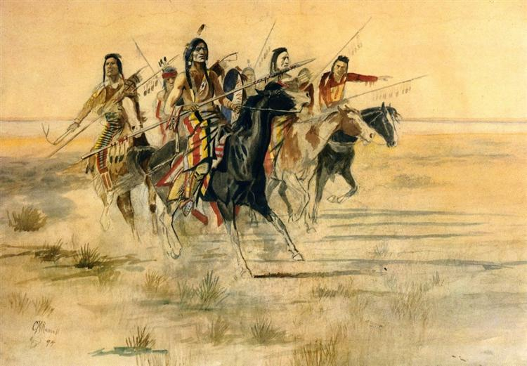 Indian Hunt, 1894 - Charles M. Russell