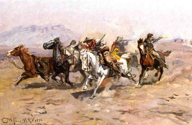 Outnumbered, 1898 - Чарльз Марион Рассел